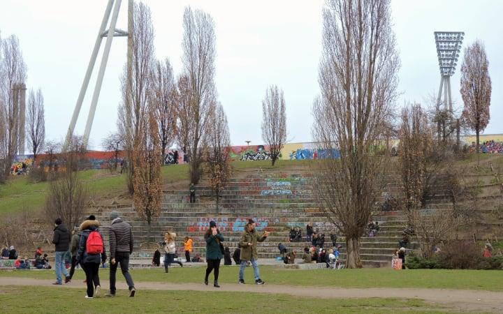 Parque Mauerpark en Berlín