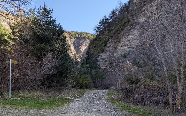 Inicio del camino hasta la cascada