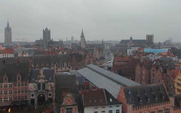 Vistas de la ciudad de Gante