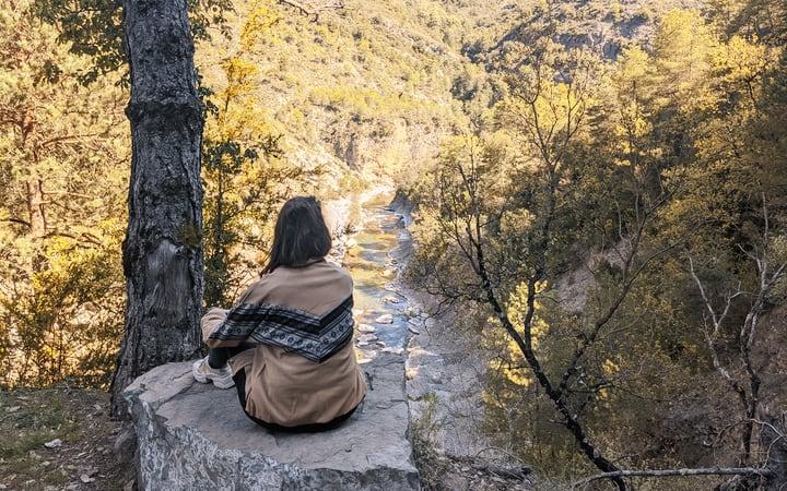 Paradas durante el recorrido por el cañón de Añisclo