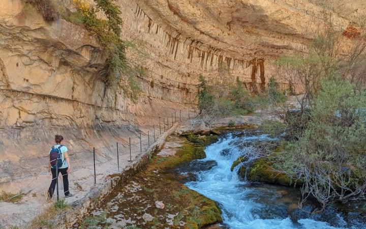 Final de la ruta del nacimiento del río Pitarque