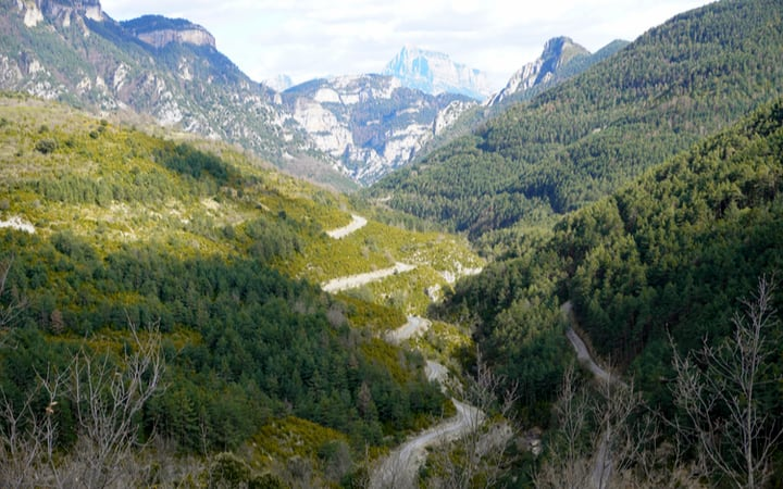 Carretera del cañón de Añisclo