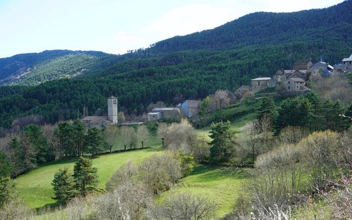 Vistas de Fanlo, capital del valle de Vió