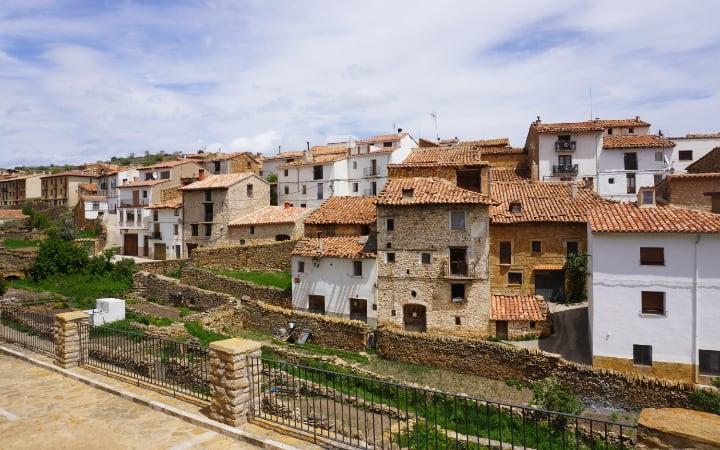 Vistas de las huertas de La Iglesuela del Cid