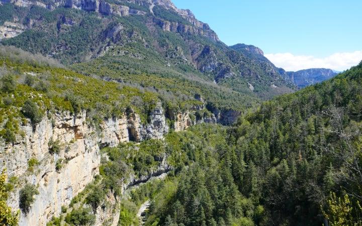 Vistas del Cañón de Añisclo desde el mirador