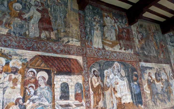 Pinturas de la Colegiata de Santa María la Mayor