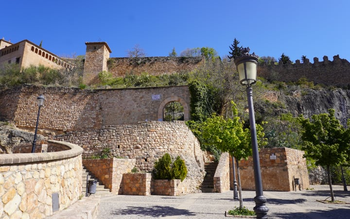 Murallas del antíguo castillo árabe