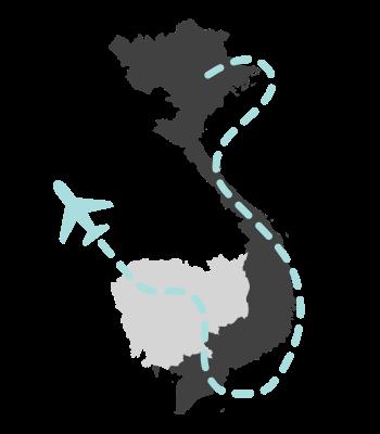 ruta por Camboya y Vietnam de 22 días