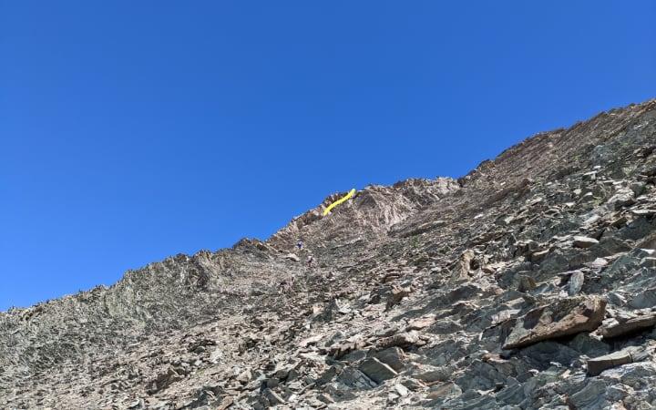 Tartera por la que se sube al pico Robiñera