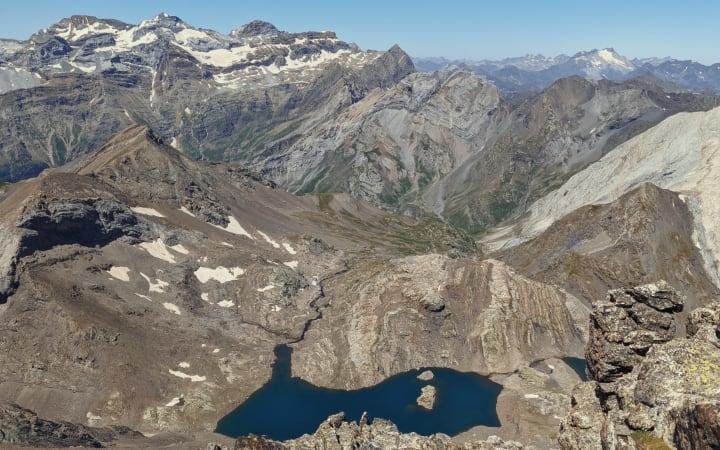 Vistas desde el pico Robiñera a 3003 m