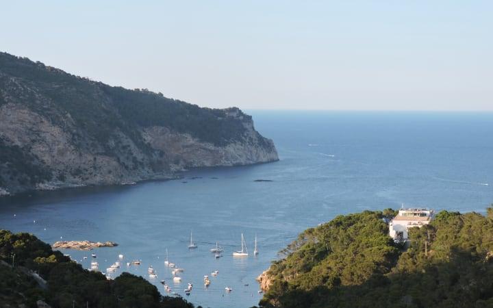 Vistas de la costa de Begur