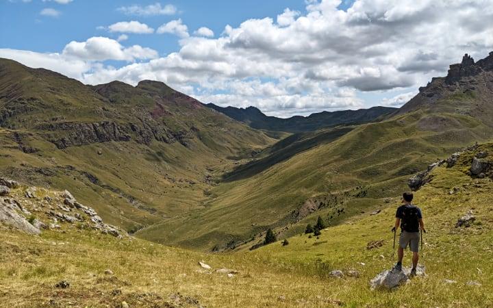 Vistas del Valle de Izas hasta su collado