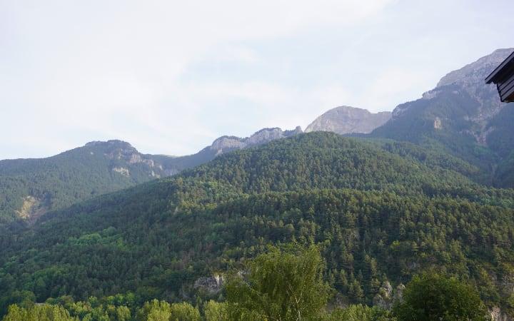 Vistas desde nuestro apartamento en Plan el Valle de Chistau