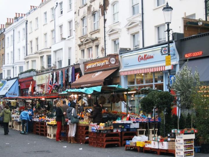 Barrio de Notting Hill  en Londres