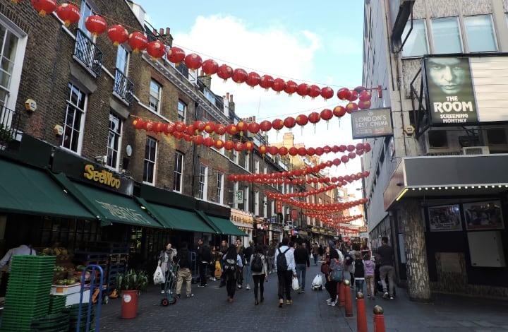 Barrio de Soho Chinatown Londres